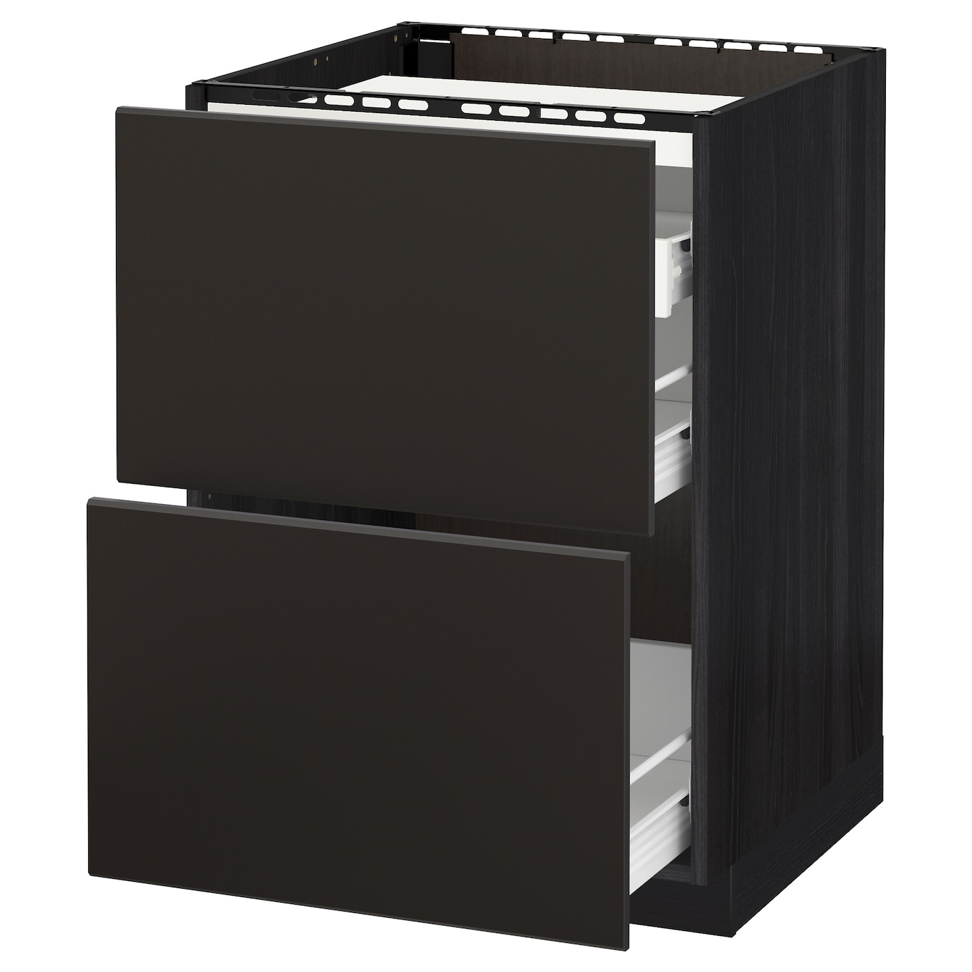 IKEA METOD/FÖRVARA base cab f hob/2 fronts/3 drawers Sturdy frame construction, 18 mm thick.