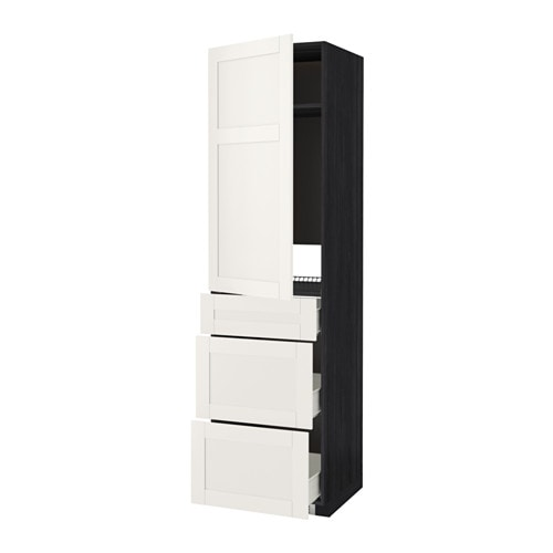 IKEA METOD/FÖRVARA high cab f fridge w door/3 drawers Sturdy frame construction, 18 mm thick.