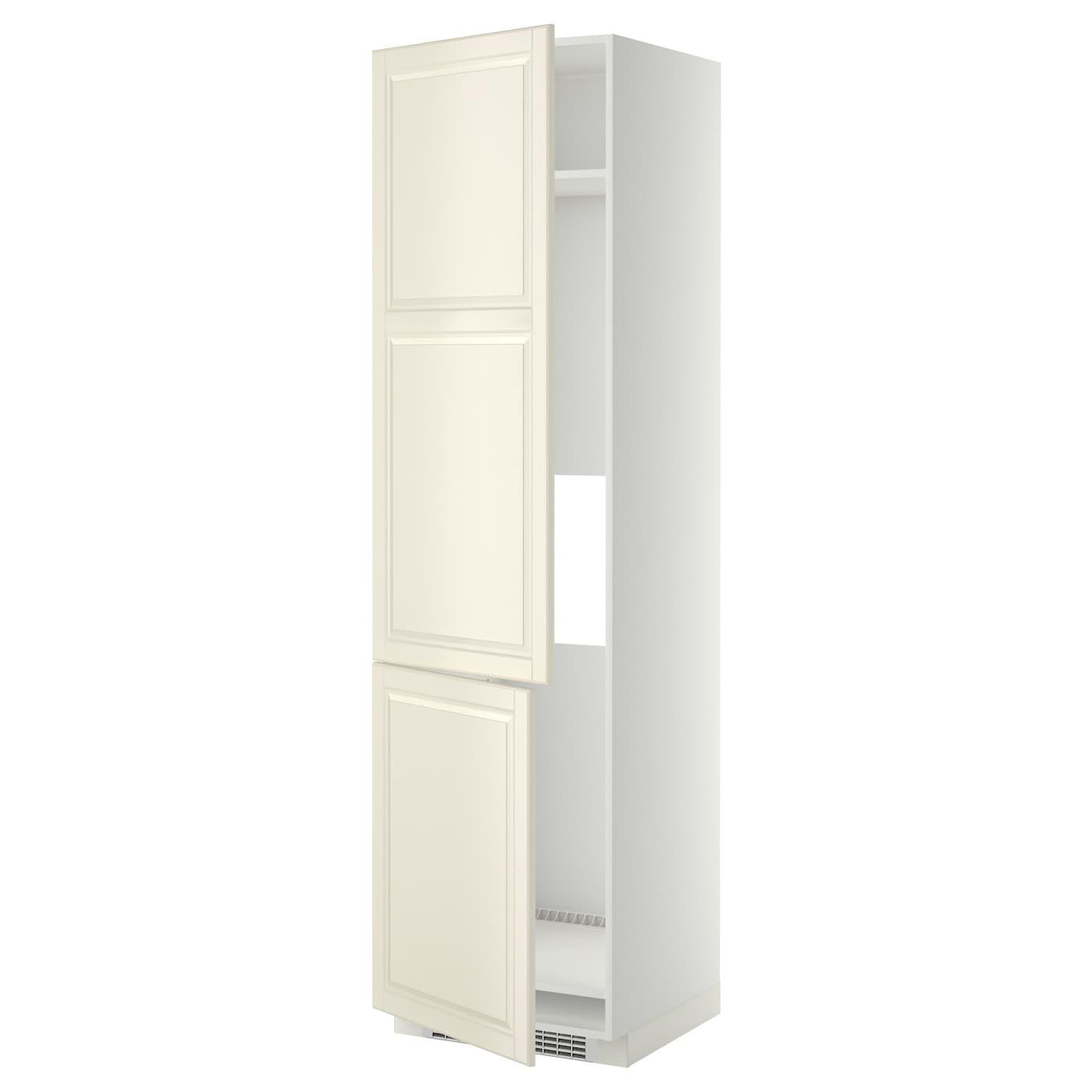 METOD High cab f fridge/freezer w 2 doors White/bodbyn off-white ...