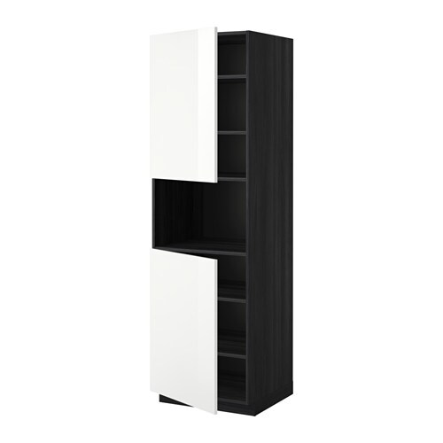 IKEA METOD high cab f micro w 2 doors/shelves Sturdy frame construction, 18 mm thick.