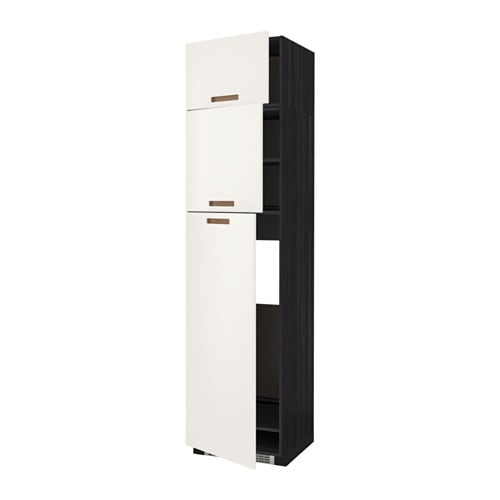 IKEA METOD high cab for fridge with 3 doors Sturdy frame construction, 18 mm thick.