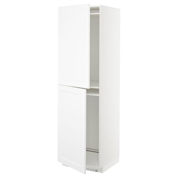 METOD High cabinet for fridge/freezer, white/Axstad matt white, 60x60x200 cm