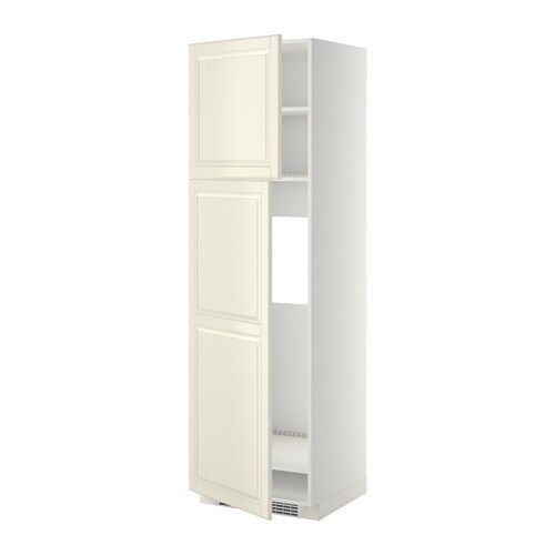 Metod high cabinet for fridge w 2 doors white bodbyn off for Kitchen ideas w2 5sh