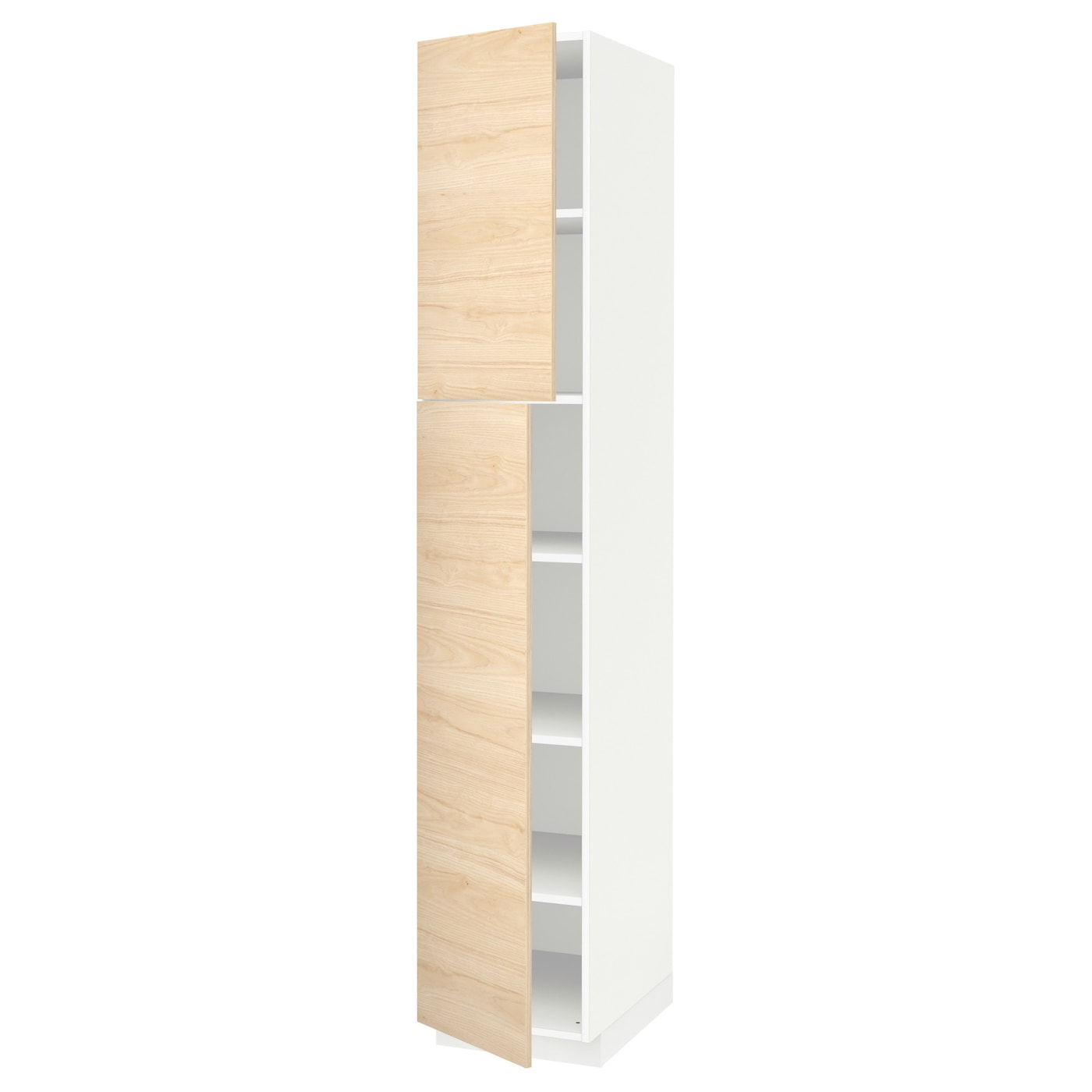 METOD High cabinet with shelves 2 doors White askersund   -> Kuchnia Ikea Askersund
