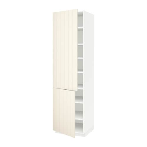 metod high cabinet with shelves 2 doors white hittarp off