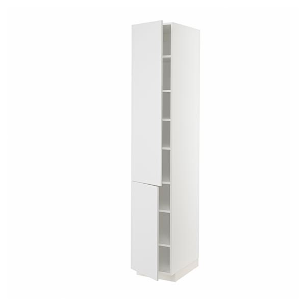 METOD High cabinet with shelves/2 doors, white/Stensund white, 40x60x220 cm
