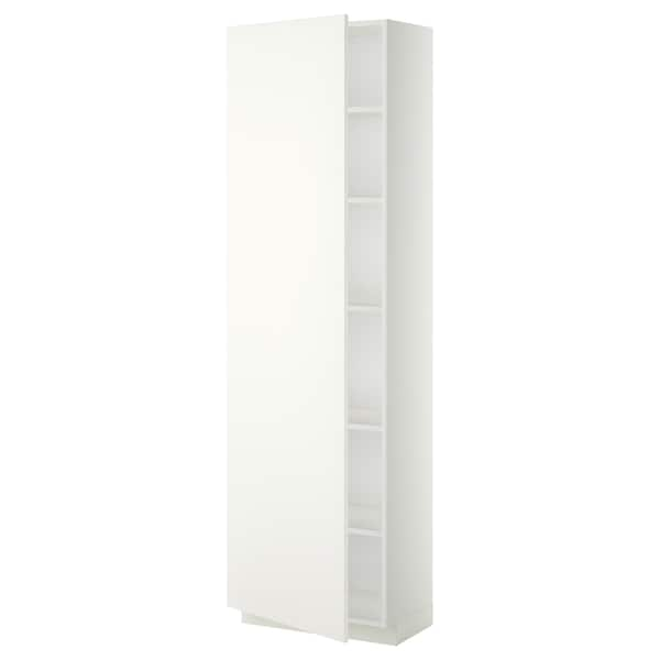 METOD high cabinet with shelves white/Häggeby white 60.0 cm 39.2 cm 208.0 cm 37.0 cm 200.0 cm