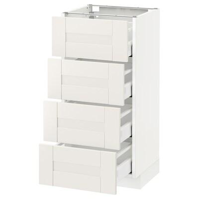 METOD / MAXIMERA Base cab 4 frnts/4 drawers, white/Sävedal white, 40x37 cm