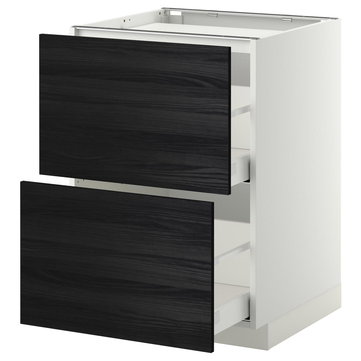 Ikea Kitchen Tingsryd: METOD/MAXIMERA Base Cab F Hob/2 Fronts/2 Drawers White