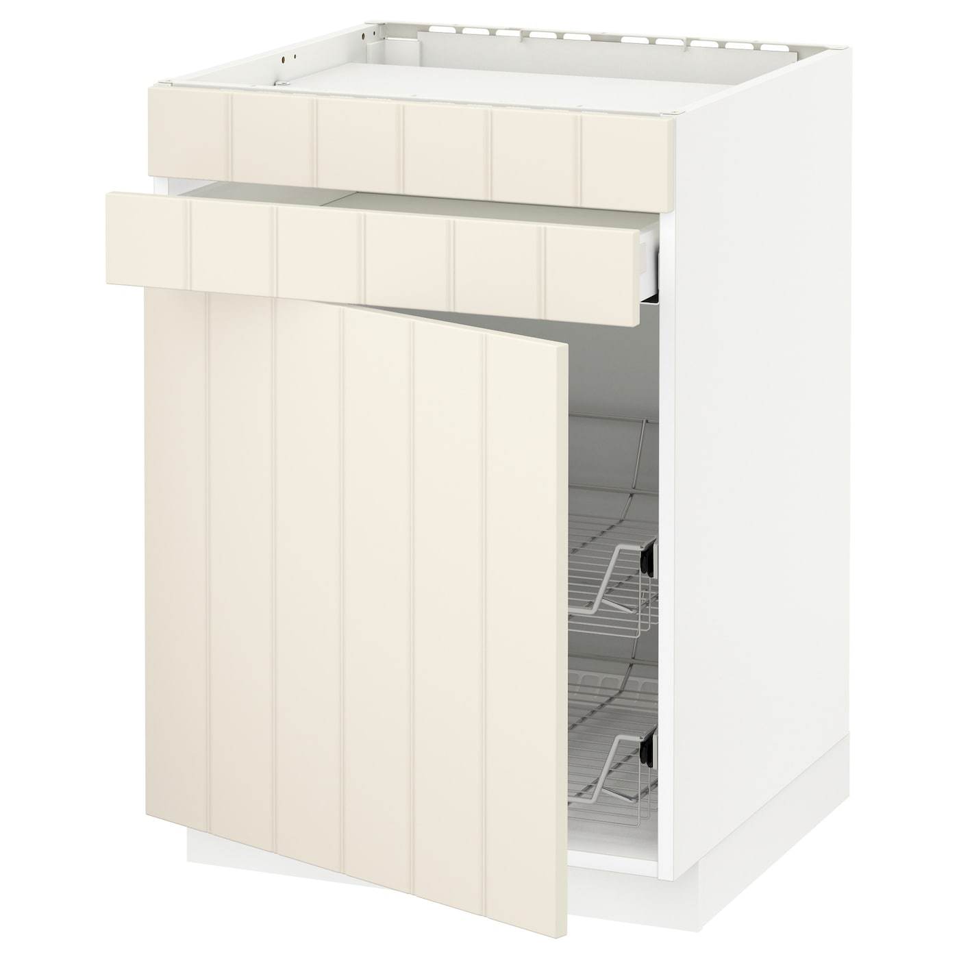 IKEA METOD/MAXIMERA base cab f hob/drawer/2 wire bskts Smooth-running drawer with drawer stop.