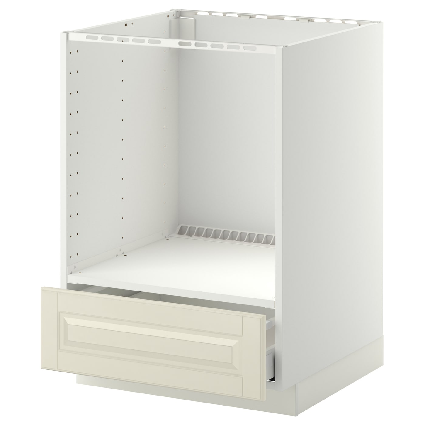 METOD/MAXIMERA Base cabinet for oven with drawer White/bodbyn off ...