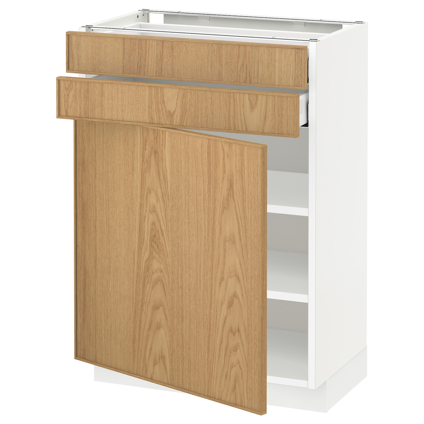 ikea oak kitchen cabinets metod maximera base cabinet w door 2 drawers white ekestad 4585