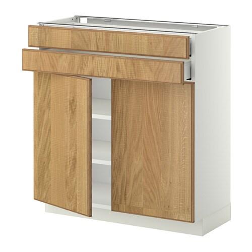 METOD  MAXIMERA Base cabinet w 2 doors 2 drawers  white  -> Kuchnie Ikea Hyttan