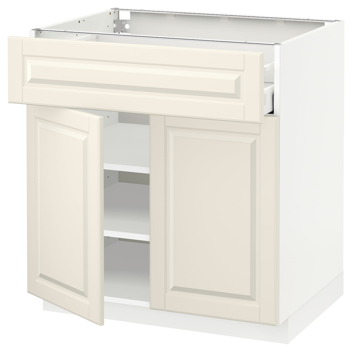 metod maximera base cabinet with drawer 2 doors white bodbyn off white 80 x 60 cm ikea. Black Bedroom Furniture Sets. Home Design Ideas