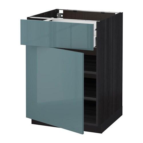METODMAXIMERA Base cabinet with drawerdoor Blackkallarp  : metod maximera base cabinet with drawer door black kallarp grey turquoise0424889pe580758s4 from www.ikea.com size 500 x 500 jpeg 20kB
