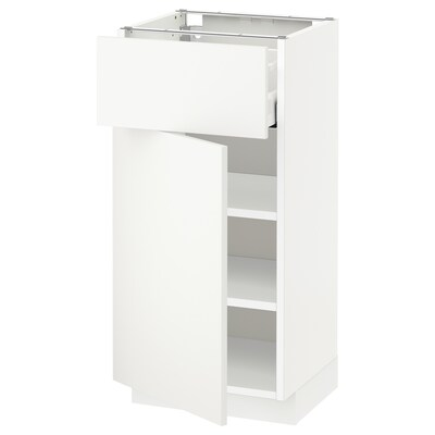 METOD / MAXIMERA base cabinet with drawer/door white/Häggeby white 40.0 cm 39.2 cm 88.0 cm 37.0 cm 80.0 cm