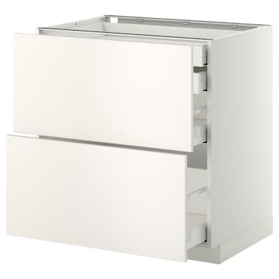 METOD / MAXIMERA Base cb 2 frnts/2 low/1 md/1 hi drw, white/Veddinge white, 80x60 cm