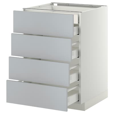 METOD / MAXIMERA Base cb 4 frnts/2 low/3 md drwrs, white/Veddinge grey, 60x60 cm