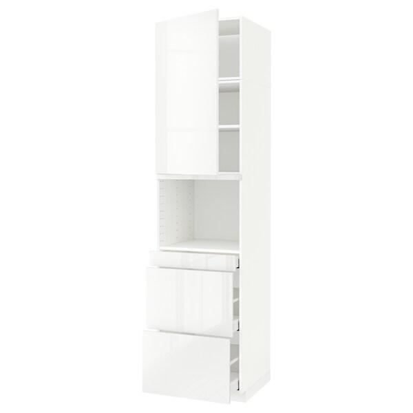 METOD / MAXIMERA hi cab f micro combi w door/3 drwrs white/Ringhult white 60.0 cm 61.8 cm 248.0 cm 60.0 cm 240.0 cm