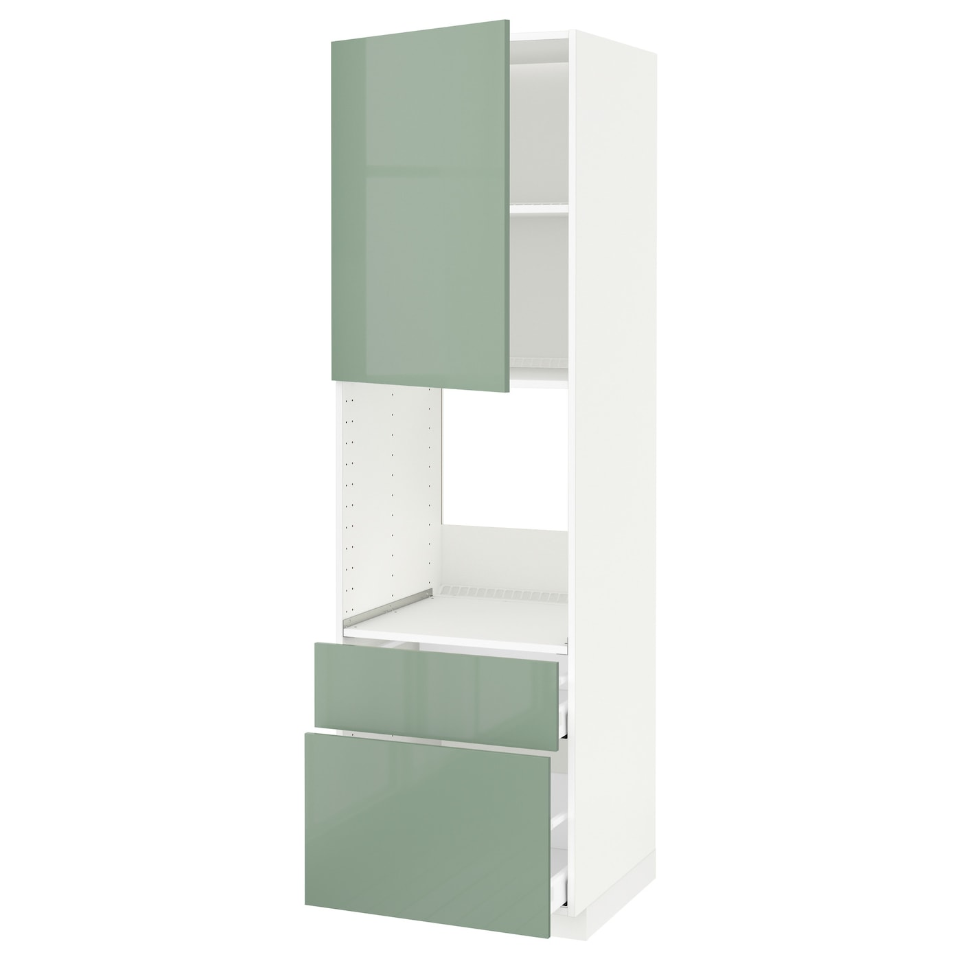 metod maximera hi cab f ov w dr 2 frnt 1 m 1 h drw white kallarp light green 60x60x200 cm ikea. Black Bedroom Furniture Sets. Home Design Ideas