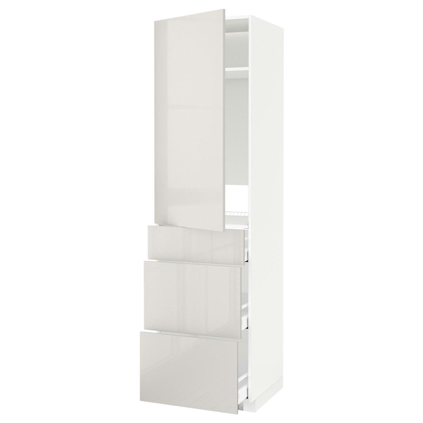 IKEA METOD/MAXIMERA high cab f fridge w door/3 drawers Sturdy frame construction, 18 mm thick.