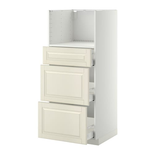 IKEA METOD/MAXIMERA high cab for micro with 3 drawers Sturdy frame construction, 18 mm thick.
