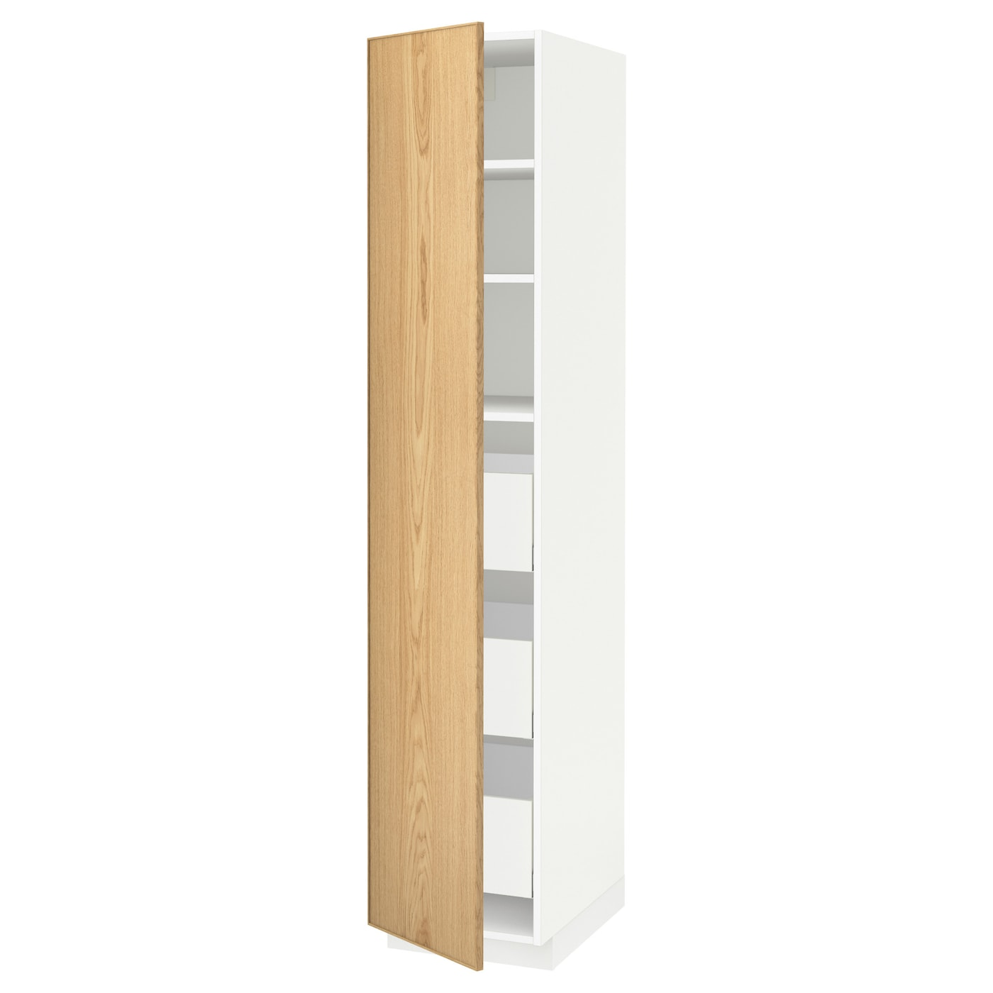 IKEA METOD/MAXIMERA high cabinet with drawers Sturdy frame construction, 18 mm thick.