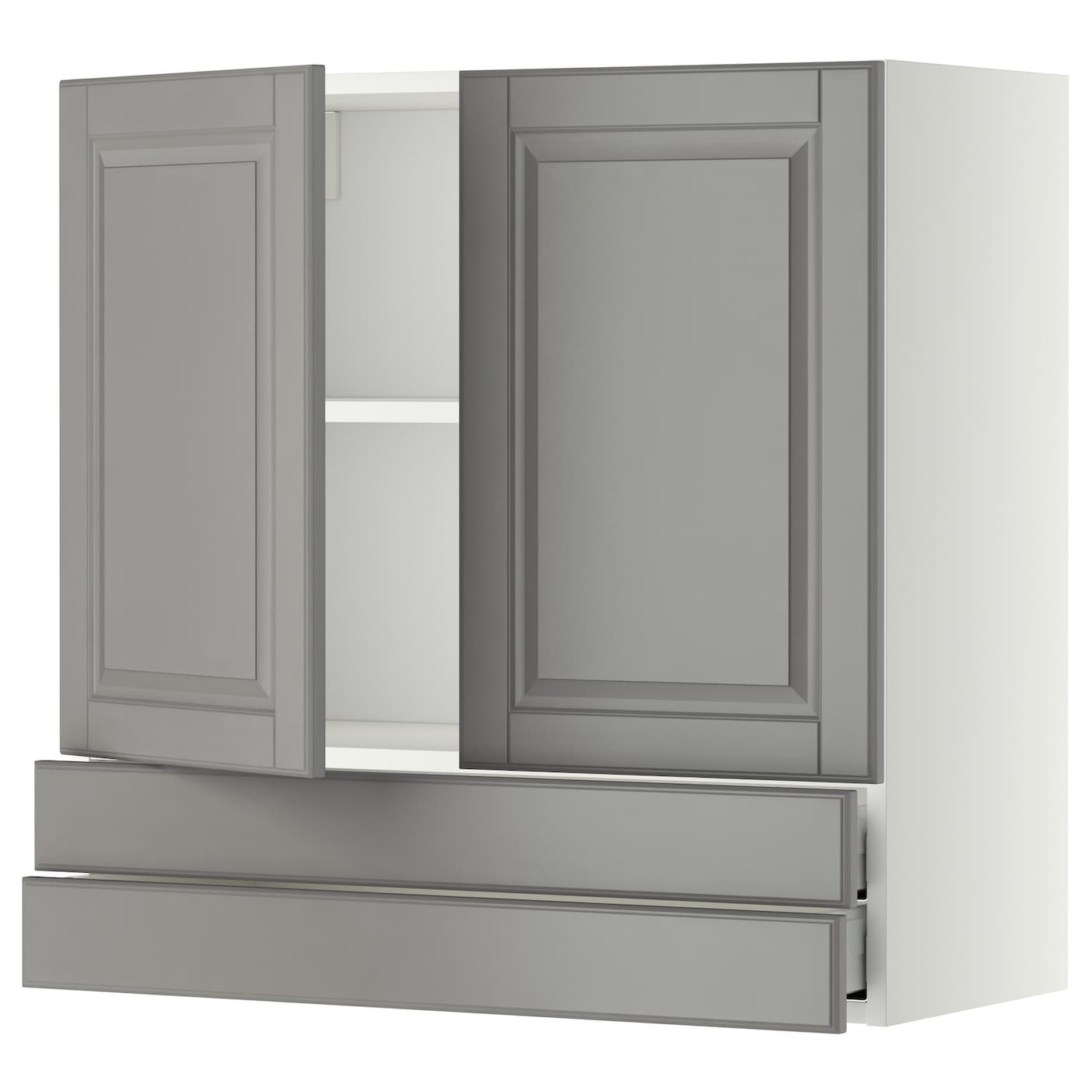 Escape Gray Kitchen: METOD/MAXIMERA Wall Cabinet W 2 Doors/2 Drawers White