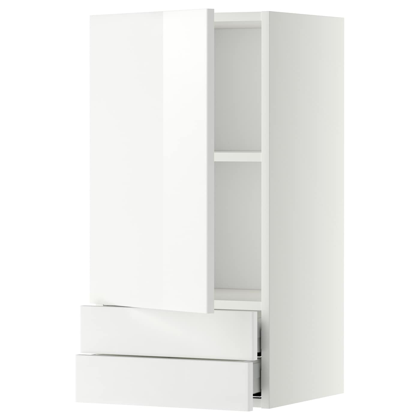 metod maximera wall cabinet with door 2 drawers white ringhult white 40x80 cm ikea. Black Bedroom Furniture Sets. Home Design Ideas