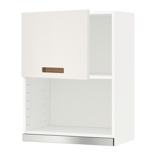 IKEA METOD wall cabinet for microwave oven Sturdy frame construction, 18 mm thick.