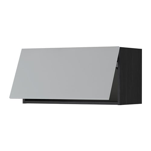 Metod wall cabinet horizontal black veddinge grey 80x40 cm - Pensile bagno orizzontale ...