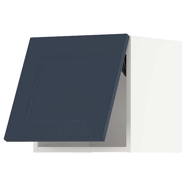 METOD Wall cabinet horizontal, white Axstad/matt blue, 40x40 cm