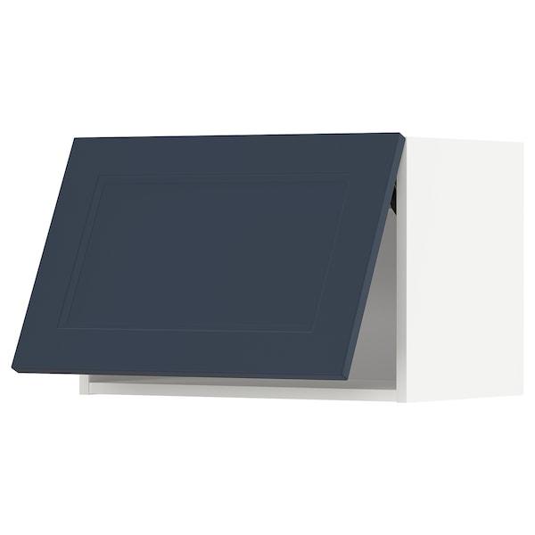 METOD Wall cabinet horizontal, white Axstad/matt blue, 60x40 cm