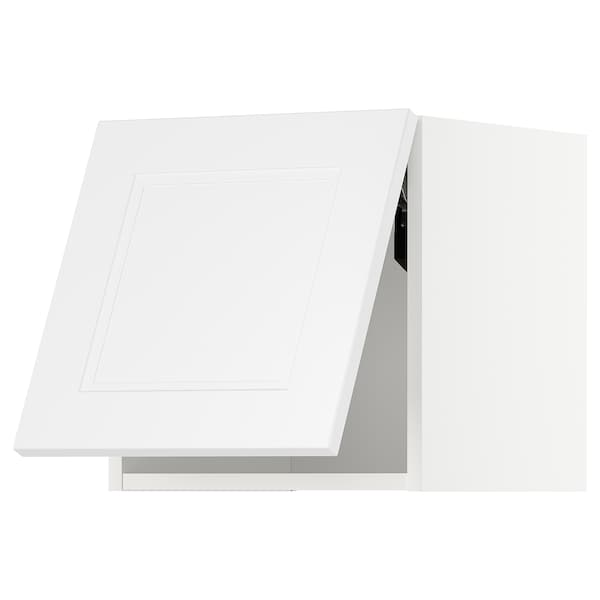 METOD Wall cabinet horizontal, white/Axstad matt white, 40x40 cm
