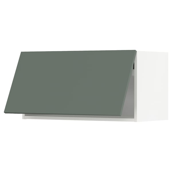 METOD Wall cabinet horizontal, white/Bodarp grey-green, 80x40 cm