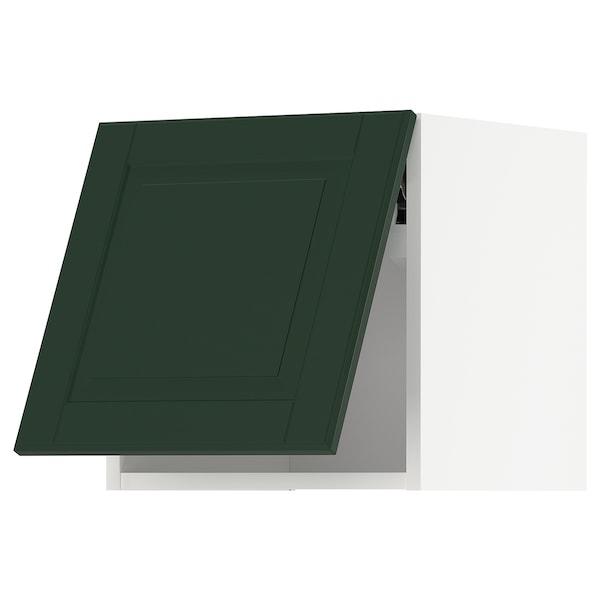 METOD Wall cabinet horizontal, white/Bodbyn dark green, 40x40 cm