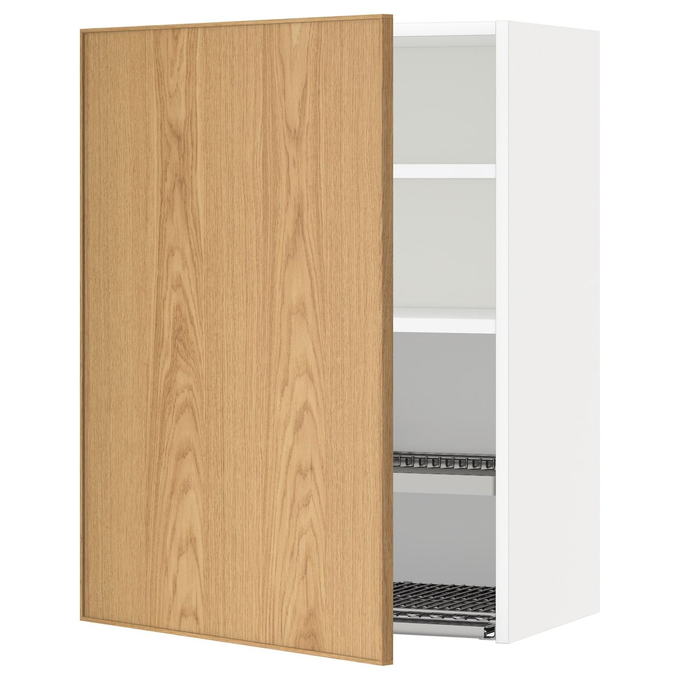 Metod wall cabinet with dish drainer white ekestad oak - Ikea wall cabinets ...