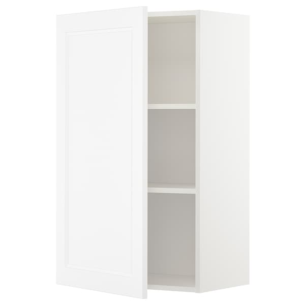 METOD Wall cabinet with shelves, white/Axstad matt white, 60x100 cm