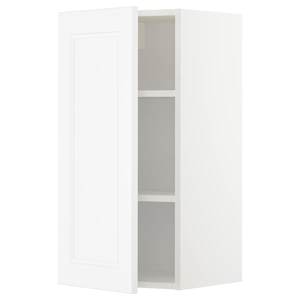 METOD Wall cabinet with shelves, white/Axstad matt white, 40x80 cm
