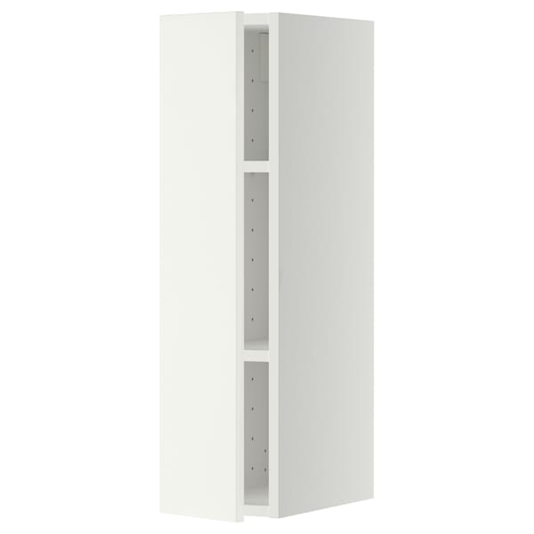 METOD Wall cabinet with shelves, white/Häggeby white, 20x80 cm