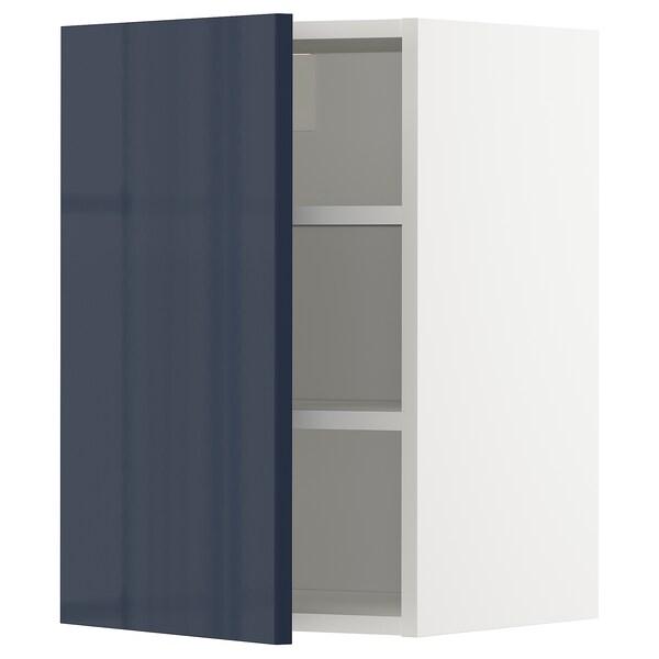 METOD Wall cabinet with shelves, white/Järsta black-blue, 40x60 cm