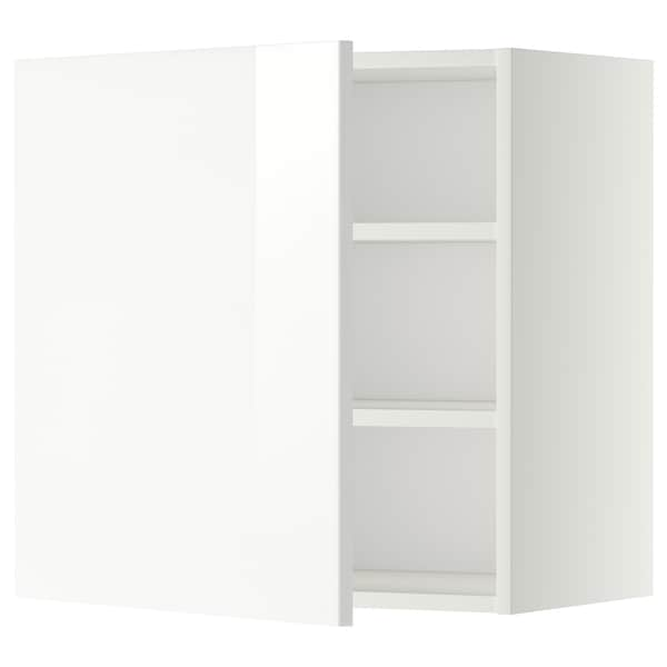 METOD Wall cabinet with shelves, white/Ringhult white, 60x60 cm