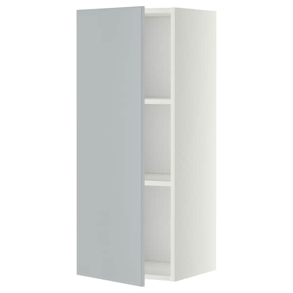METOD Wall cabinet with shelves, white/Veddinge grey, 40x100 cm