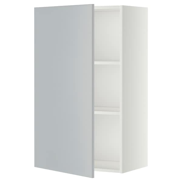 METOD Wall cabinet with shelves, white/Veddinge grey, 60x100 cm