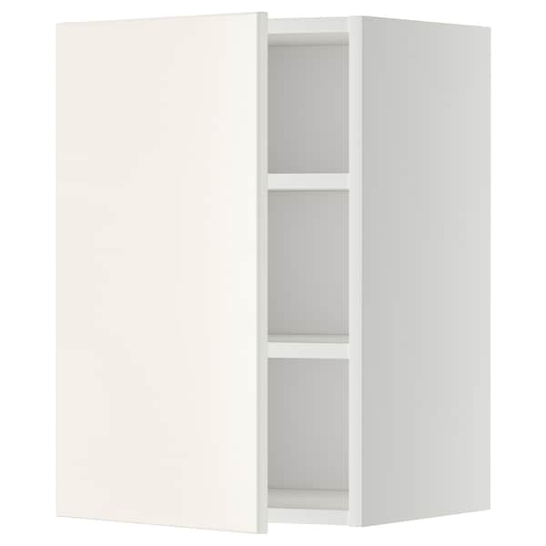 METOD Wall cabinet with shelves, white/Veddinge white, 40x60 cm
