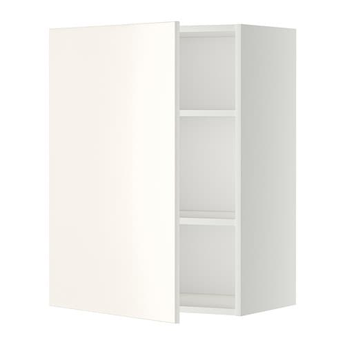 Metod Ikea metod wall cabinet with shelves white veddinge white 60x80 cm ikea