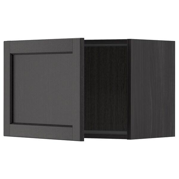 METOD wall cabinet black/Lerhyttan black stained 60.0 cm 38.9 cm 40.0 cm