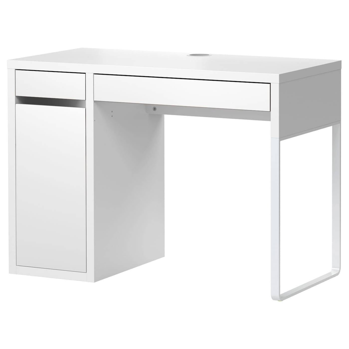 Micke desk white 105x50 cm ikea for Meuble bureau 90 cm