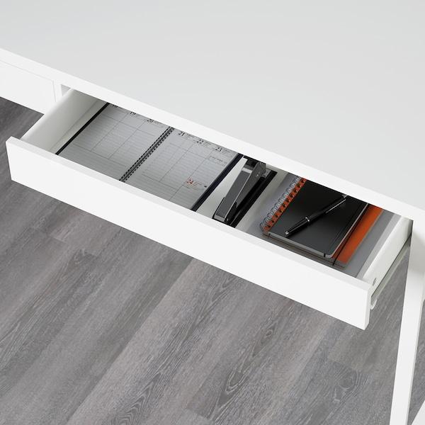 MICKE Desk, white, 142x50 cm