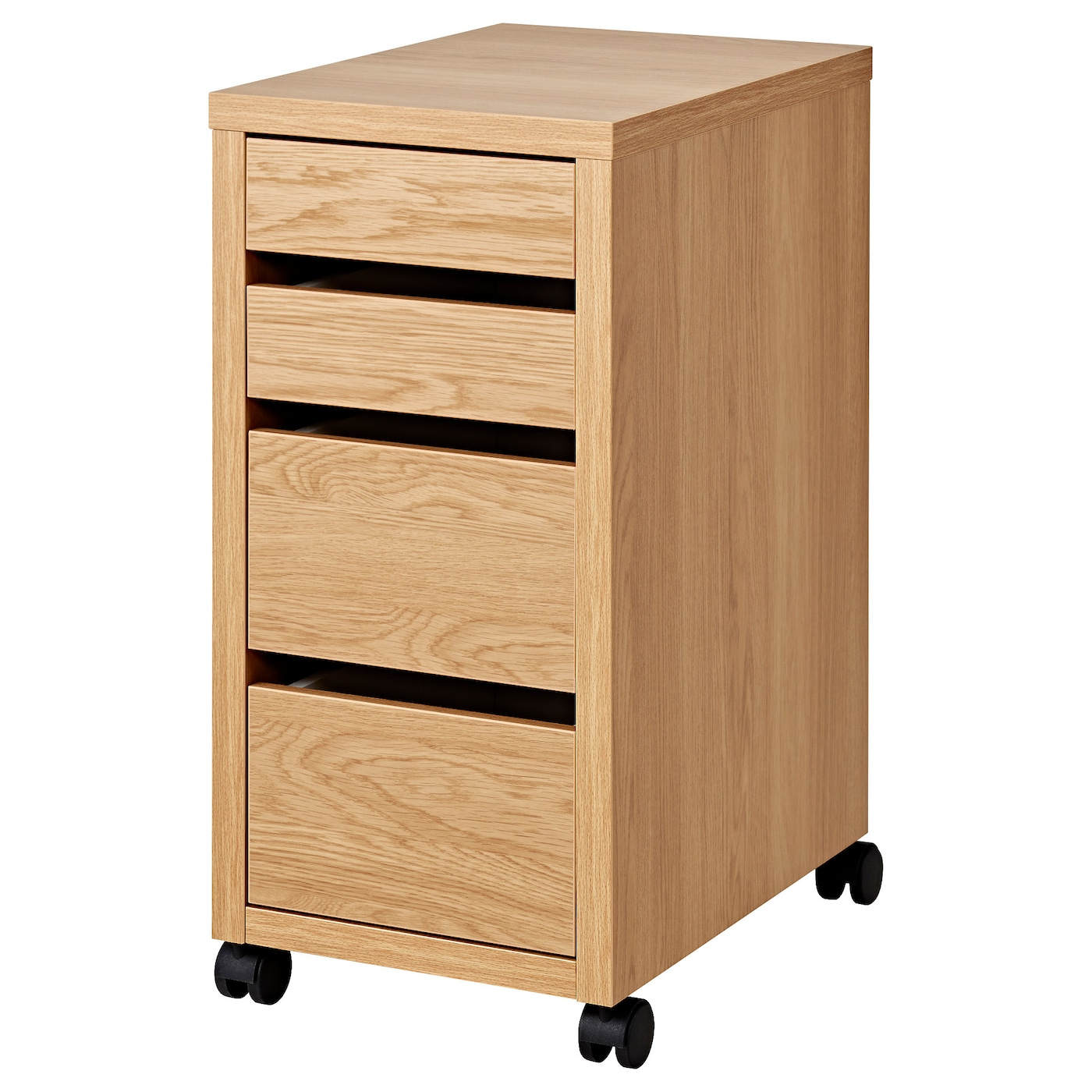 IKEA MICKE drawer unit on castors Drawer stops prevent the drawer from being pulled out too far.